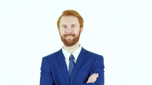 Smiling Satisfied Businessman