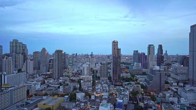 Beautiful building architecture around Bangkok city in Thailand