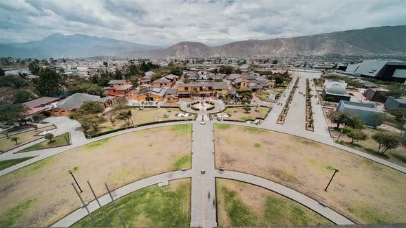 Quito, Ecuador, Timelapse  - Ciudad Mitad del Mundo as seen from the top of the monument