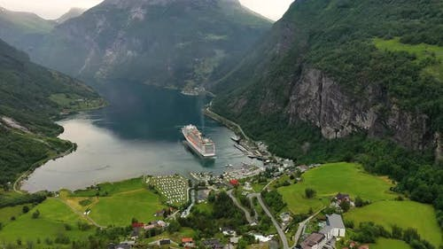 Geiranger Fjord, Norway. Beautiful Nature Norway Natural Landscape.