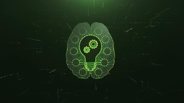 Thumbnail for Scan Brain with Idea Bulb and AI Gears