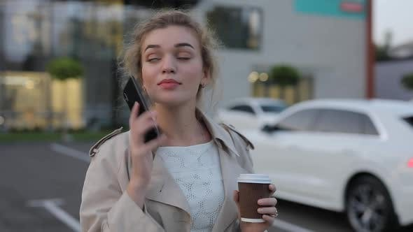 Thumbnail for Woman Calling By Smartphone in City