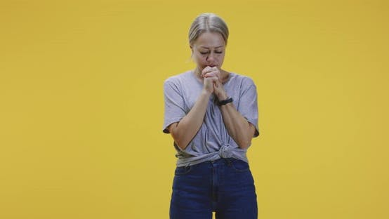 Thumbnail for Young Woman Murmuring and Praying