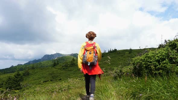 Thumbnail for Girl Hiker At The Mountains 2