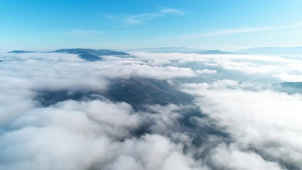 Fly Over Clouds In The Valley