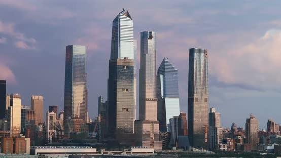 Thumbnail for Sunset of Midtown Manhattan New York City