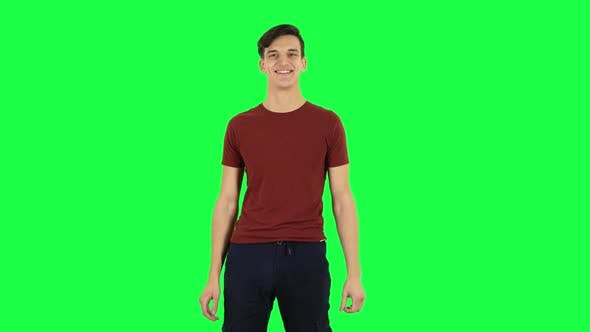 Cover Image for Surprised Guy with Shocked Wow Face Expression. Green Screen