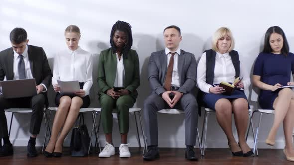 Cover Image for Group of People Waiting for Job Interview