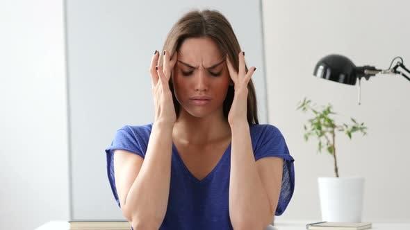 Thumbnail for Beautiful Woman Gesturing Headache, Stress at Work