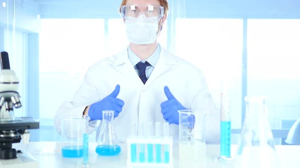 Thumbnail for Thumbs Up by Scientist in Laboratory