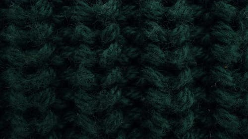 Closeup Aquamarine Color Fabric Knitted Texture Background