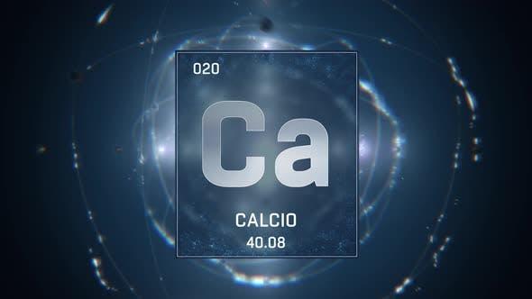 Thumbnail for Kalzium als Element 20 des Periodensystems auf blauem Hintergrund in spanischer Sprache