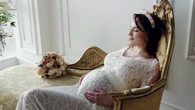 Pregnant Woman Indoor