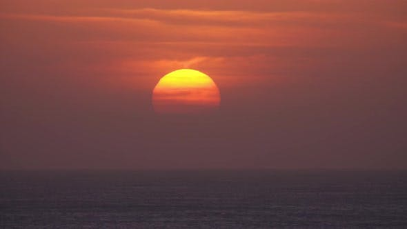 Thumbnail for Beauty Landscape with Sunset Over Sea, Timelapse