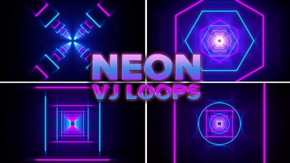 Thumbnail for Neon Cyber Vj Loops Pack