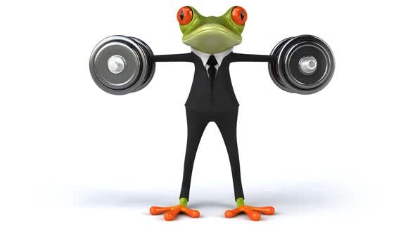 Thumbnail for Fun frog with weights