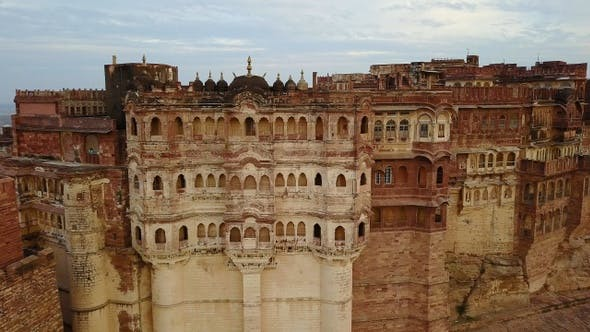 Thumbnail for Detail of the Mehrangarh fort, in Jodhpur, Rajasthan, India