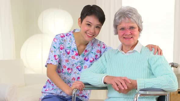 Thumbnail for Chinese nurse and elderly patient