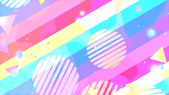 Thumbnail for Rainbow Shapes Background