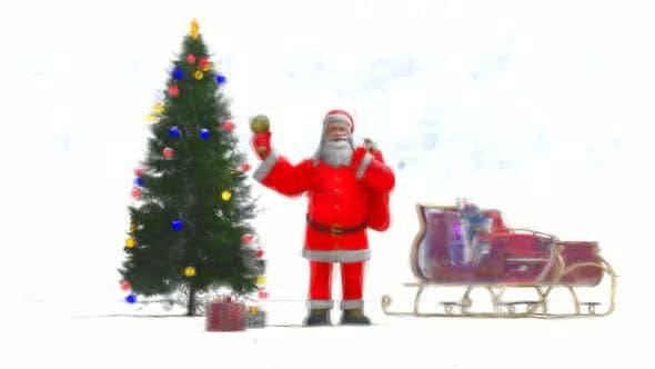 Thumbnail for Christmas Tree and Santa Claus Stop Motion