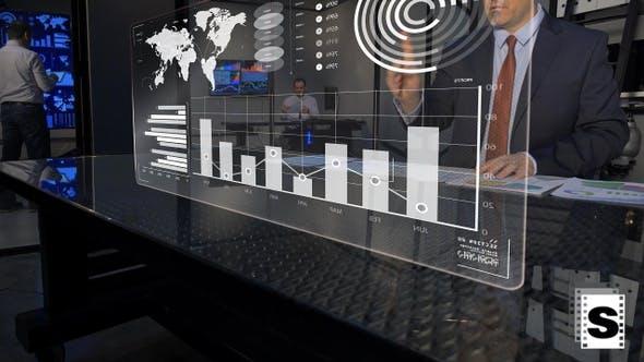 Cover Image for Futuristic Business Data Monitor