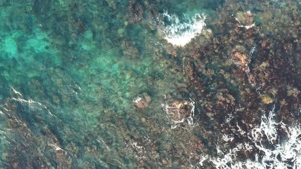 Thumbnail for Aerial View Of Beautiful Ocean Water With Coral In Jamaica