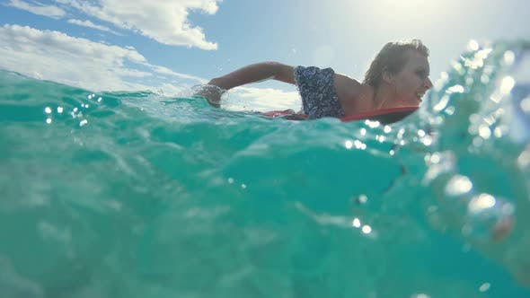 Swimming On The Board