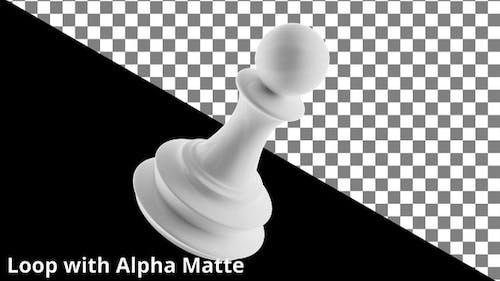 Floating White Pawn on Black