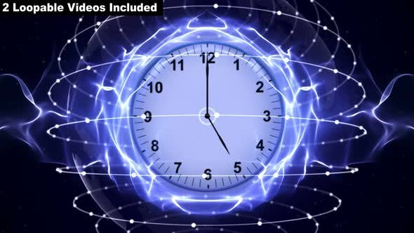 Thumbnail for Abstract Loopable Clocks Backgrounds (2 Videos)