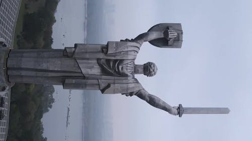 Motherland Monument in Kyiv Ukraine
