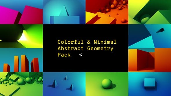 Thumbnail for Colorful & Minimal - Abstract Geometry Pack
