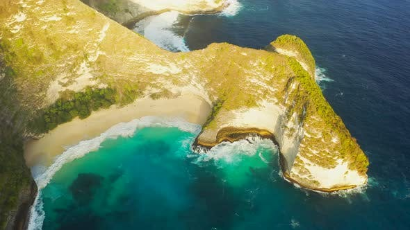 Thumbnail for Manta Bay or Kelingking Beach on Nusa Penida Island, Bali. Nusa Penida Is One of the Most Famous
