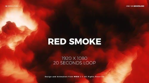 Red Smoke Background