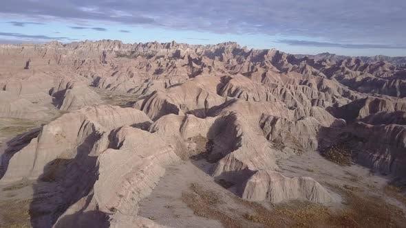 Badlands Western Region in Spring Topography Erosion Landform Hills
