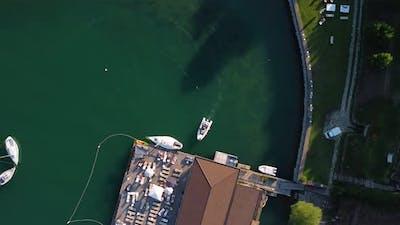 Yacht Arrives In Harbor