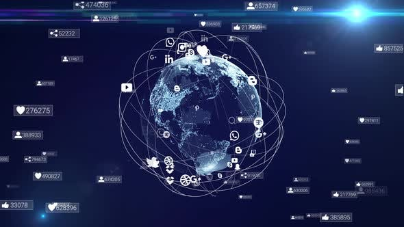 Global social network system around digital earth. Global network system