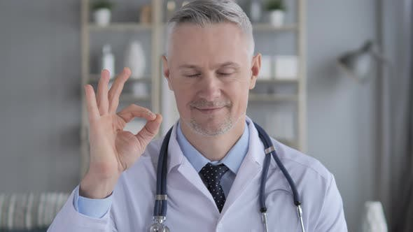 Thumbnail for Okay Sign By Positive Doctor with Grey Hairs