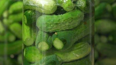 Glass Jar of Cucumber