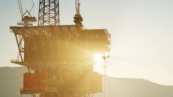 Thumbnail for Oil Drill Rig Platform on the Sea