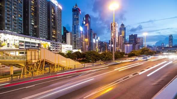 Thumbnail for Traffic at night in Hong Kong