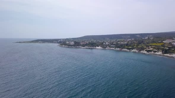 High View From Drone on Beautiful Coastline in Cloudy Weather in Daytime