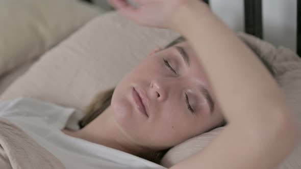 Thumbnail for Beautiful Young Woman Sleeping in Bed at Home