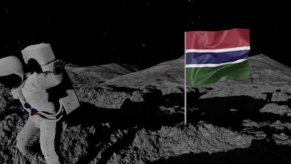 Thumbnail for Astronaut Planting Gambia Flag on the Moon