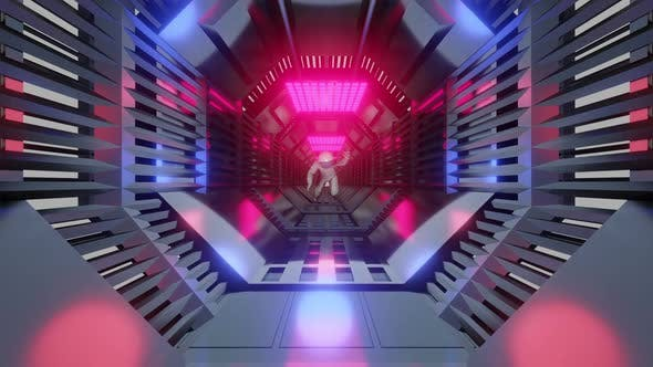 Thumbnail for A Astronaut in a futuristic Tunnel