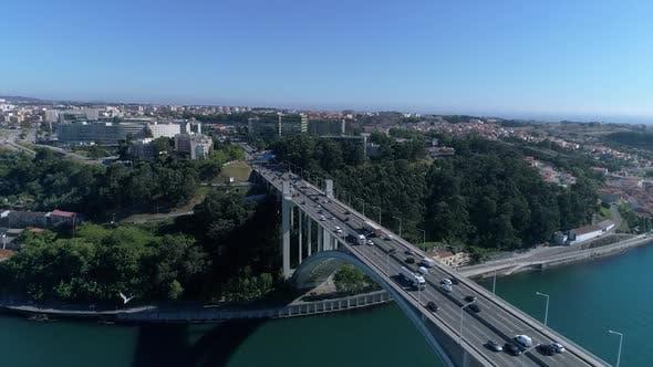 Thumbnail for Many Vehicles Crossing Highway Bridge
