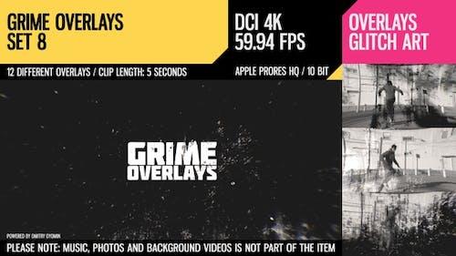 Grime Overlays (4K Set 8)