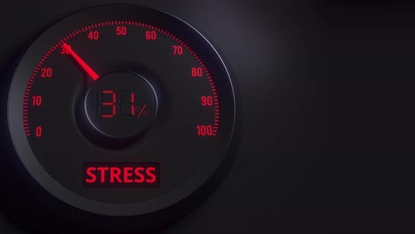 Thumbnail for Red and Black Stress Meter or Indicator