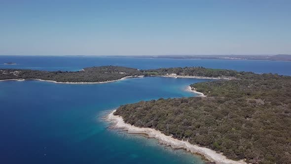 Thumbnail for Aerial View of Mali Brijun Island, Croatia