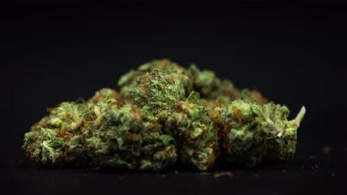Marihuana Knospen in einer Tasche