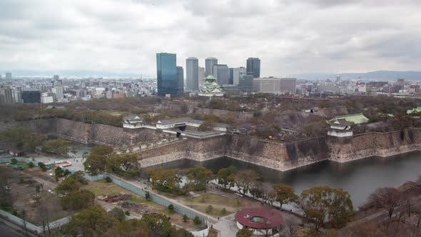 Thumbnail for Osaka Medieval Castle City Background Timelapse